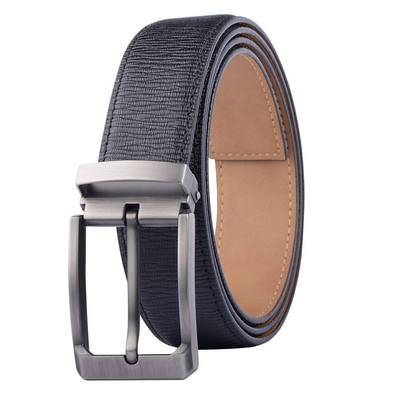 Top Brand Leather Belts Men Casual Pin Buckle Male Waistband Black Genuine Leather Mens Belt Waist Male Cowboy Jeans