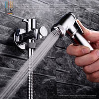Copper Cooling Closestool Flusher Angle Valve Booster Spray Bidet Nozzle Set Vagina Cleanse Leading Suit