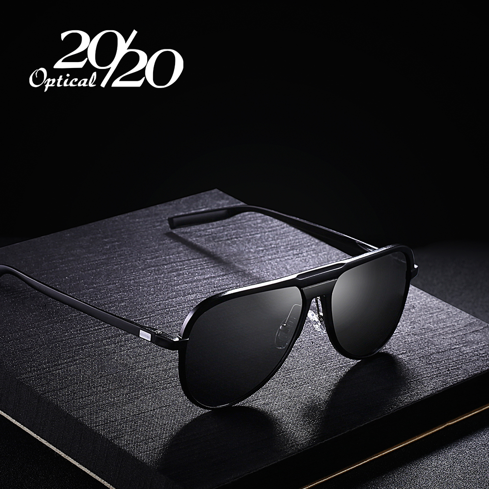 20/20 Unisex Classic Brand Aluminum Sunglasses Men HD Polarized UV400 Mirror Male Sun Glasses Women For Men Oculos PK016