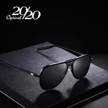 Lunettes de soleil unisexe, marque classique, lunettes de soleil polarisées en aluminium pour hommes et femmes, miroir, UV400, uv016, collection 20/20