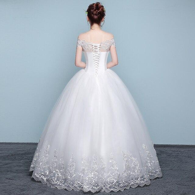 Wedding Dress 2018 New Mrs Win Cheap Boat Neck Ball Gown Off The Shoulder Princess Wedding Dresses Plus Size Vestido De Noiva F 4