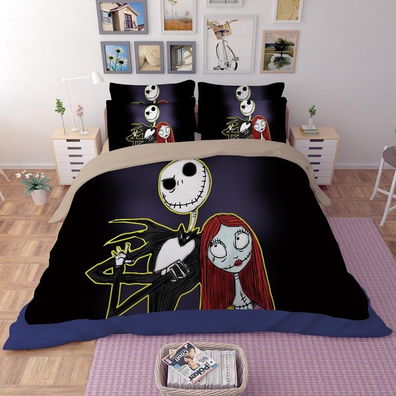 Nightmare Before Christmas Bedroom: Black And White Bedding Set Nightmare Before Christmas