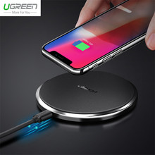 Ugreen 10W Fast Leather Wireless Charger For Samsung Galaxy S9 S8 Plus S7 Edge USB Qi Wireless Charging Pad for iPhone X 8 Plus