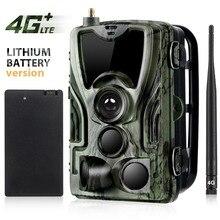 Suntekcam HC 801LTE 4G Săn Bắn Camera 16MP 64 GB Đường Mòn Camera IP65 Ảnh Bẫy 0.3 Hoang Dã Camera 5000 mAh Pin Lithium