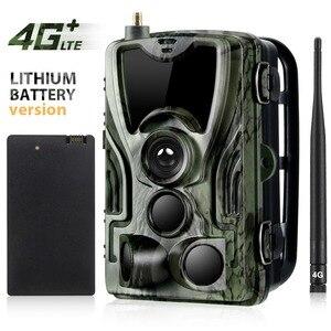 Image 1 - Suntekcam HC 801LTE 4G kamera myśliwska 16MP 64GB kamera obserwacyjna IP65 pułapki fotograficzne 0.3s dziki aparat z baterią litową 5000Mah
