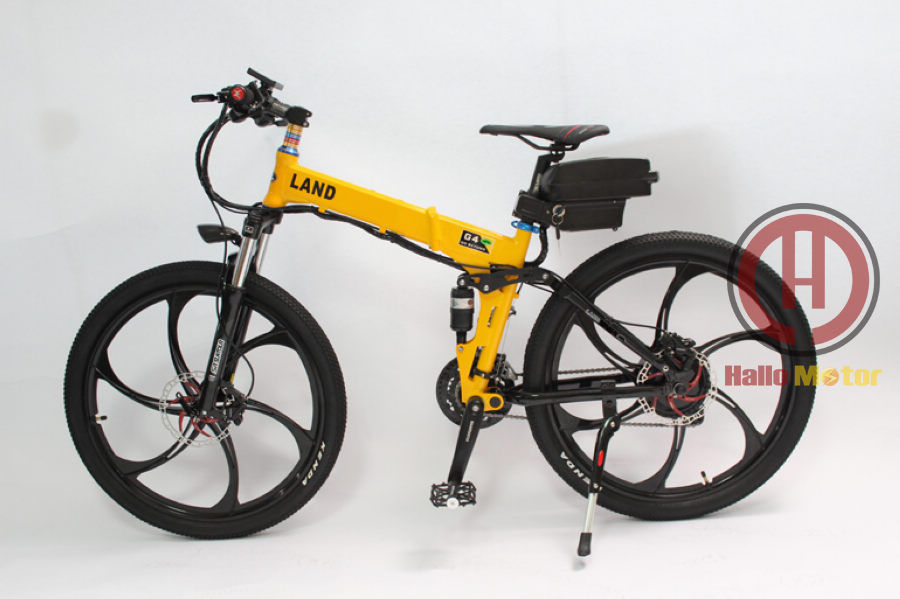 ConhisMotor 48V 500W Foldable Frame Electric Bicycle 12AH Li-ion Battery Ebike LCD Display Magnesium Alloy Integral Wheel 17 conhismotor electric bike lithium battery hallomotor ebike metal case h22p 24v 17 6ah seat tube li ion polymer battery pack