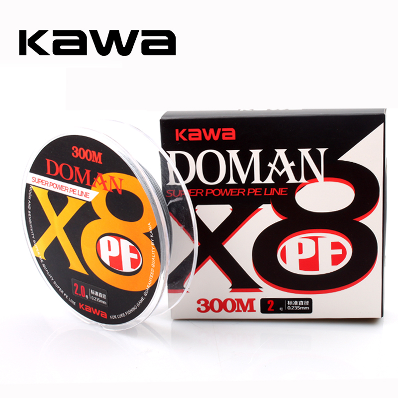2018KAWA New Fishing PE Line 8 Strands Braided 300M Fishing Line Multifilament Super PE  ...