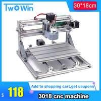 CNC3018 พร้อม ER11,diy cnc engraving เครื่อง Pcb Milling,ไม้แกะสลักเครื่อง cnc router, cnc 3018,GRBL ที่ดีที่สุดขั้นสูงของเล่น
