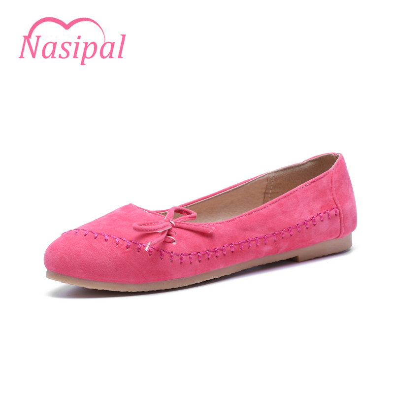 Nasipal Women Flats Bowtie Spring Summer Shoes Slip On Casual Shoes Comfortable Round Toe Flat Shoes Woman Plus Size Sweet C006 women flats slip on casual shoes 2017 summer fashion new comfortable flock pointed toe flat shoes woman work loafers plus size