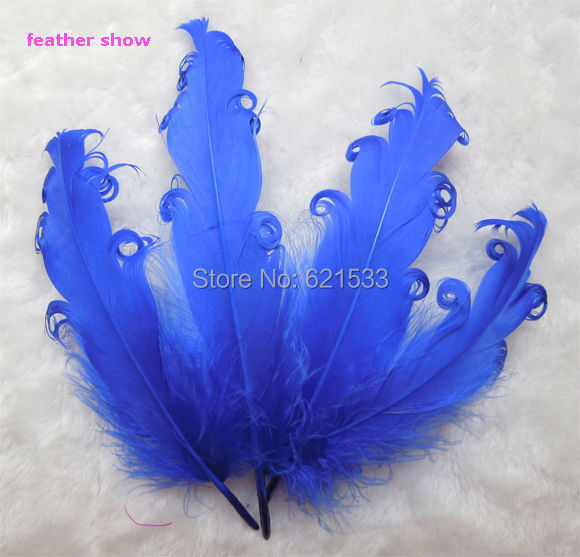 50pcs/lot!Nagorie Feathers Curled Goose Satinettes,Navy Blue Colour,Loose Craft Feathers,Costume Design,Hair Feather,Fascinator