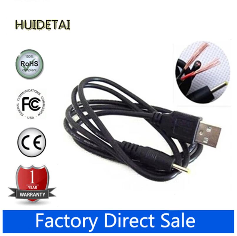 5pcs/lot 2.5 FT USB charge cable to DC 2.5 mm plug/jack for Cube Onda Sanei Vido Ployer SmartQ Freelander Tablet PC car charger for tablet pc cube u10gt u10gt2 aoson m19 more black dc 9v