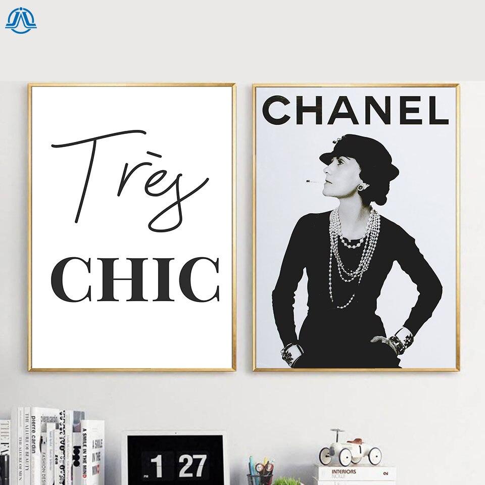 Moderna di Moda Arte della Tela di Canapa Pittura della Donna di Modo di Poster e Stampe Citazione Testo Picture Parete per Soggiorno Complementi Arredo Casa No Frame