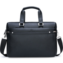 Simple Leather Briefcase Handbags Famous Brand Business Bag Men Laptop Bag Casual Man Office Shoulder Bags bolso hombre XA228ZC
