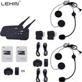 LEXIN 2pcs R6 BT Multi Interphone Bluetooth Intercom Motorcycle Wireless Headphones Accessories 1200M Helmet Headset 6 Riders