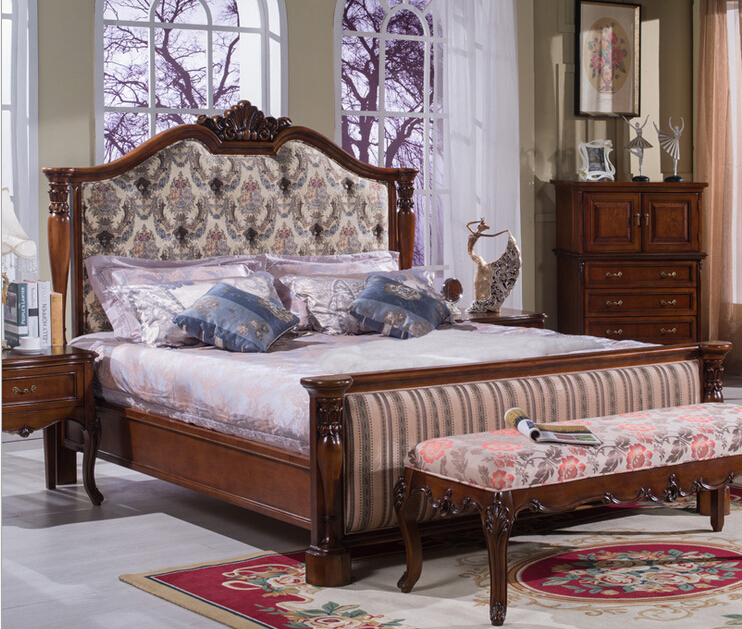 Elegant Design Leather Bed,italian Design Modern Wooden Leather Bed