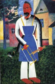 High quality Oil painting Canvas Reproductions On Vacation (1927) By Kazimir Malevich hand painted