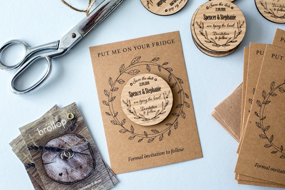 Us 5 82 26 Off Personalized Wedding Save The Date Custom Invitation Magnets Rustic Magnet Set Gifts Favor In