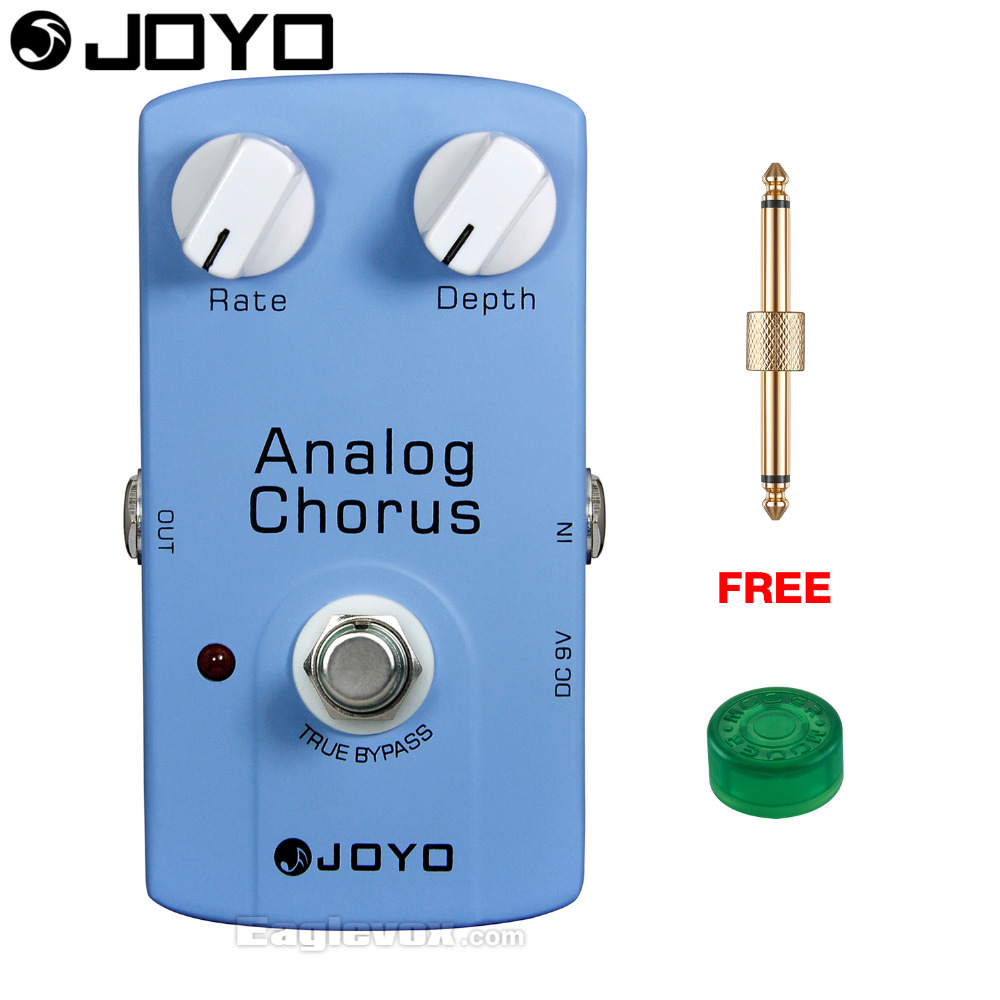 JOYO Analog Chorus Electric Guitar Effect Pedal True Bypass JF-37 with Free Connector and Footswitch Topper joyo jf 37 analog chorus electric guitar effect pedal true bypass design adjustable tone