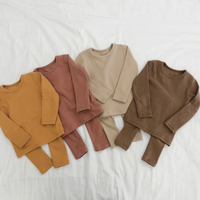 Spring Baby Boy Girl Soft Cotton Pajamas Clothes Set Sleepwear Nightwear Outfit for Newborn Infant Children Cloth Kid Clothing