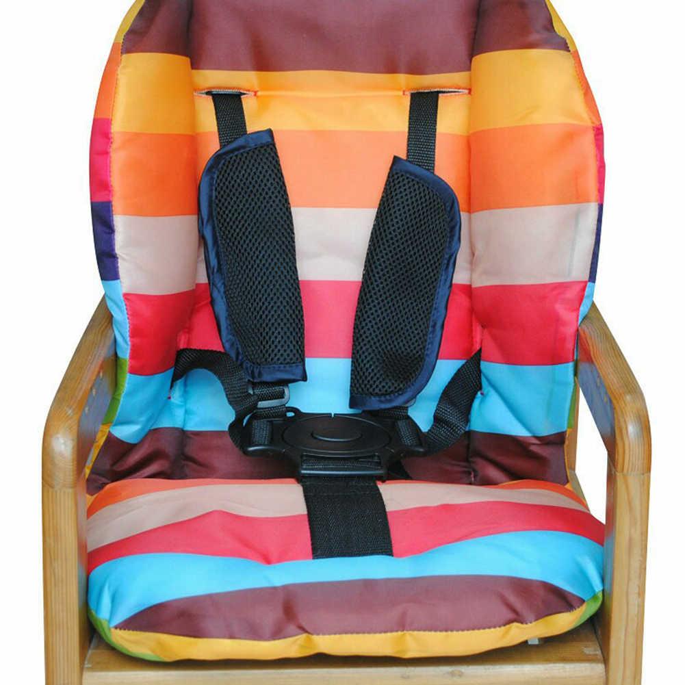 5 จุดเด็กสูงเก้าอี้ Universal รถเข็นเด็กรถเข็นเด็กสายคล้องเด็กที่นั่งเข็มขัด Harness Buggy