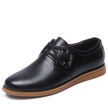 Купить с кэшбэком 2019 New Spring Fashion Oxford Business Men Shoes Genuine Leather High Quality Soft Casual Breathable Men's Flats Zip Shoes