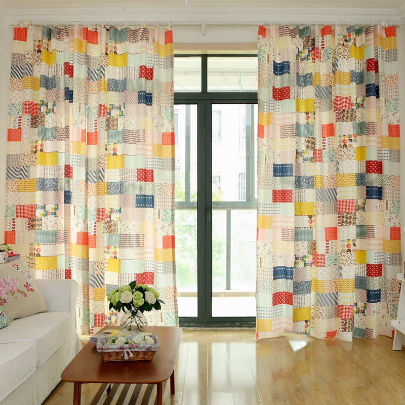 Awesome Online Shop Rustic Fluid Curtain Girl Patchwork Curtain Window Curtain  Finished Product Korean Linen Curtains | Aliexpress Mobile