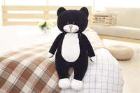 middle black plush cat toy cartoon stuffed soft cat doll pillow gift about 80cm