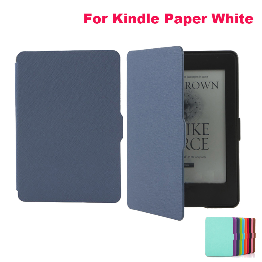 High quality Ultra thin Magnetic Leather Smart Case Cover for Amazon Kindle Paperwhite 2015 version e-Book in different colors walnew leather case for amazon kindle paperwhite 6 inch e book cover fits all versions 2012 2013 2014 and 2015 all new 300 ppi