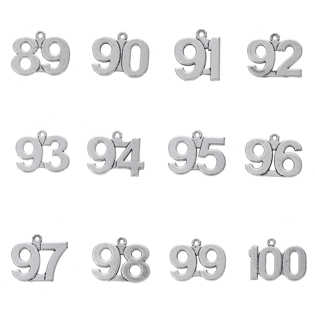 US $3 98  Skyrim 20pcs 89 100 Digital Charm Pendant Sliver Painted Floating  Jewelry Making 89 90 91 92 93 94 95 96 97 98 99 100-in Charms from Jewelry