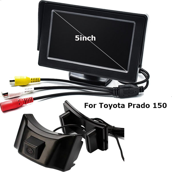 Auto Parking Assistance 2In 1 Car Front View Parking Camera For Toyota Prado 150 With 5inch Digital TFT LCD Miniotr