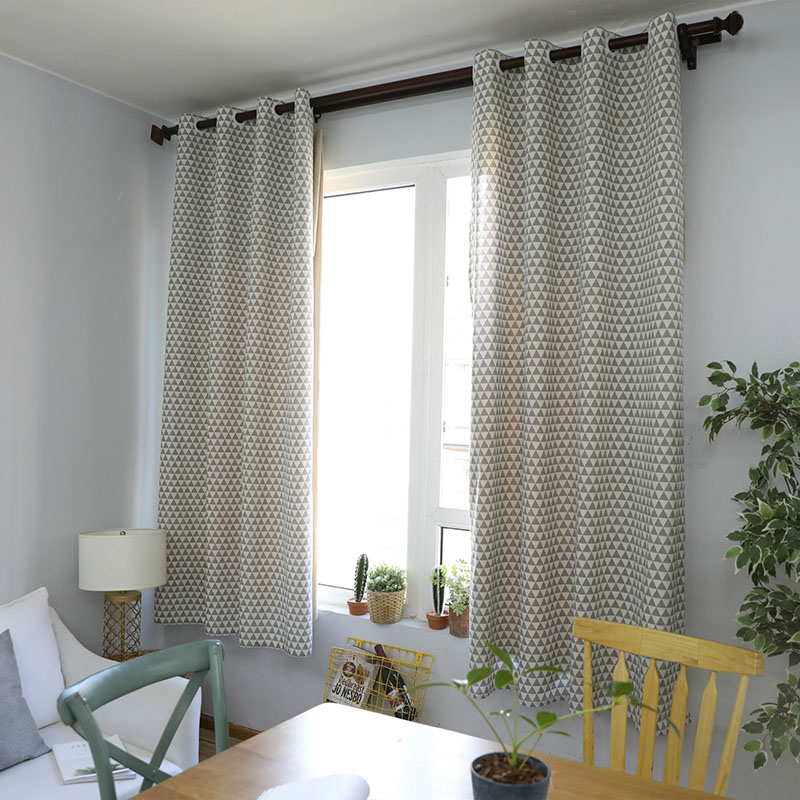 Nodic Print Blackout Curtain Solid Cotton for Livingroom Bedroom Home Deco Window Treatment Curtain cortinas dormitorio modernas-in Curtains from Home & Garden