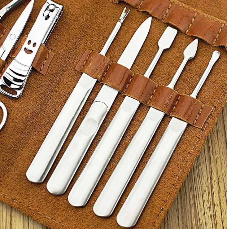 11pc Ledertasche Professional Nail Kit Maniküre Pediküre Set - Nagel Kunst - Foto 3