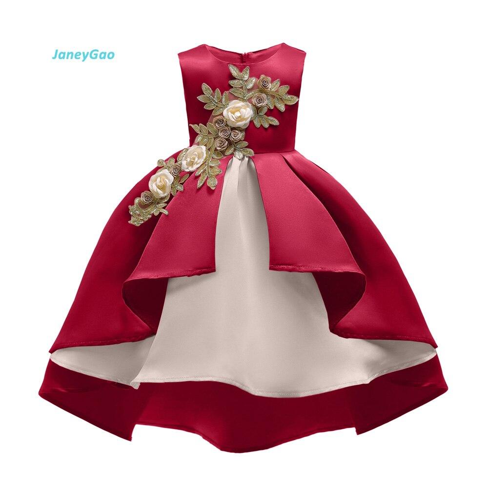 JaneyGao Flower Girl Dress For Wedding Party New Style Christmas New Year Girls Dress Children s