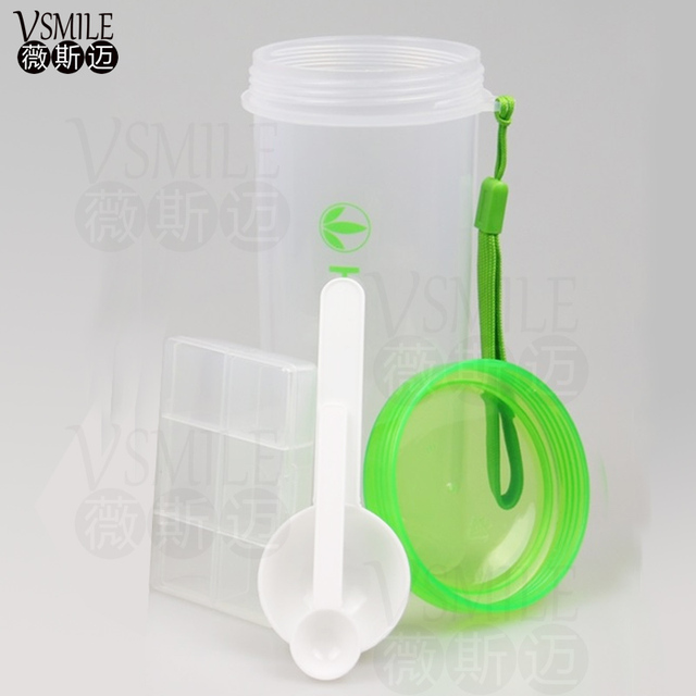 New Arrival 500ml Herbalife Nutrition Plastic Sports Shake Bottle With 1pcs Pill Box And 2pcs Spoon Handy Water