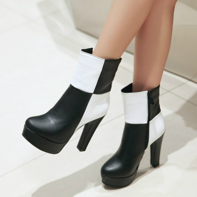 Newly arrival Gingham women boots ridding equestrian round toe boots thin ultra high heels side zipper  mixed color and platform only true love new arrival genuine leather women fashion flat heels equestrian snow boots round toe women boots