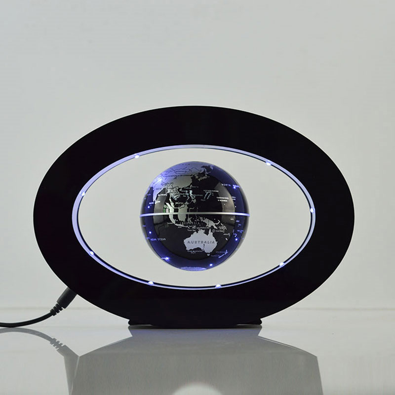 2017 Rushed New Novelty Decoration Magnetic Levitation Floating Globe World Map With Led With Electro Magnet And Field Sensor