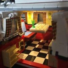 MOC Creative Creator Series T1 Campering Van LED Building Block Light Up Kit Kids Toys For Children Compatible Legoings Technic