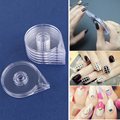 6pcs/PACK  Acrylic Transparent Nail Striping Tape Case holder for DIY Nail Art  Sticker Accessory Holder Box
