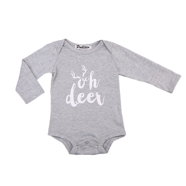 cd159ab4b 2017 Fashion Autumn Baby Bodysuits Newborn Infant Baby Girls Boys Long  Sleeve Bodysuit Comfortable Outfits Sunsuit Clothes Cute