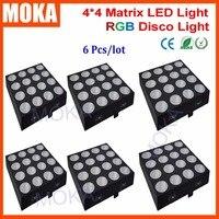 6 יח'\חבילה 16 ראשים LED מטריקס אור מסיבת חתונת אורות מסיבת Dj RGB 3in1 DMX שלב הדלקת אפקט-באפקטי תאורה לבמה מתוך פנסים ותאורה באתר