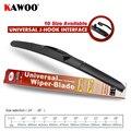 KAWOO Universal U-Type Car Wiper Blade 14161718192021222426 Hook Windscreen Windshield Soft Rubber Hybrid Auto Wipers