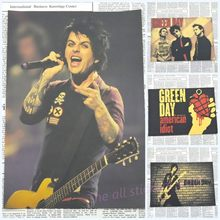 Vintage Retro green day rock band music Guitar Matte Kraft Paper Antique Poster Wall Sticker Home Decora/1027(China)
