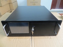 4U450 font b Server b font computer case 1 2 thickening steel 8 inch touch screen