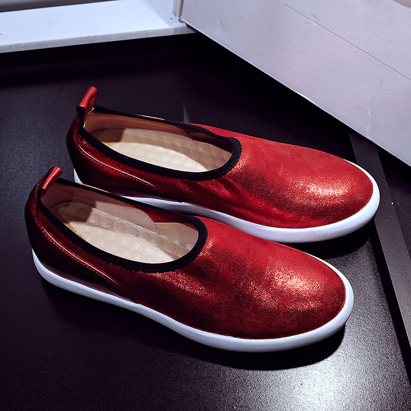 ФОТО Loafers 2016 Flat Shoes Woman Genuine Leather Women Famous brand Footwear Ladies Shoes Fashion Loafers Casual Women Famous