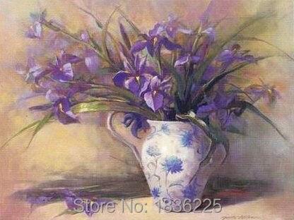 100% peint à la main mur peinture fleur pourpre photos peintures à l'huile pour salon peintures pour salon décor à la maison art