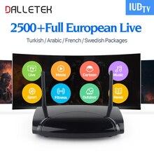 Dalletek Android TV Box IPTV Europa Arabisch Russisch EX-YU IPTV Abonnement heißer Sky Sport Kanal Kanäle Kostenlose 1G / 8G HD Media Box