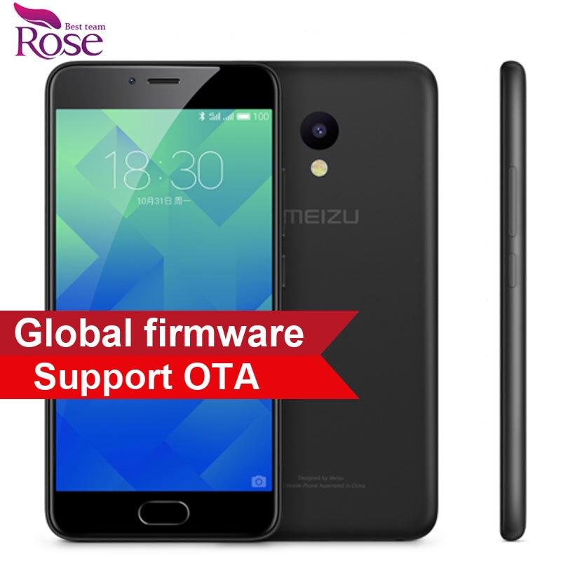 """Original Meizu M5 Mobile Phone 3GB RAM 32GB ROM MTK MT6750 Octa Core 5.2"""" 4G LTE 2.5D 1280*720 13MP 3070mA Fingerprint ID"""