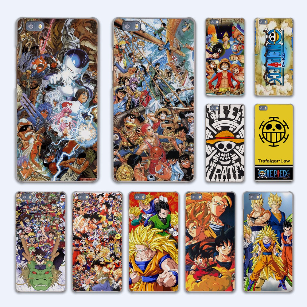 Japanese anime collage dragon ball naruto one piece design hard transparent Case Cover for Huawei P10 P8 P9 lite P7 Mate 7 8 Mat