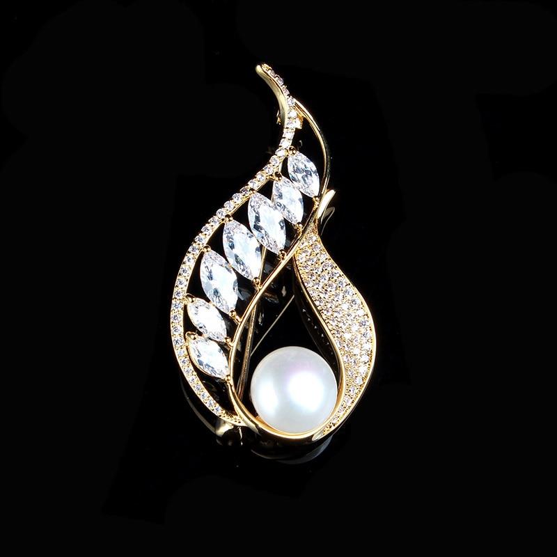JIUDUO South Korea imported purchasing simple fashion outside the shawl buckle female Austrian full diamond pearl brooch needle все цены