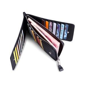 Image 2 - WILLIAMPOLO 男性財布本革カードホルダー銀行クレジットカード ID ホルダーブランド大容量の高級カードケース